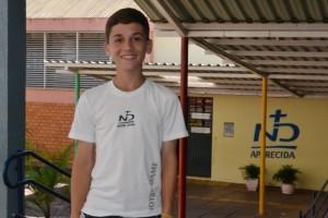 Germano respondeu as provas de Nível 2, direcionadas aos estudantes de 8º ou 9º ano do Ensino Fundamental, e foi premiado com a Menção Honrosa.