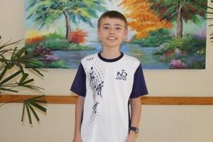 O estudante do 6º Ano do Ensino Fundamental, Félix Celia Guerra, foi premiado com Certificado de Menção Honrosa